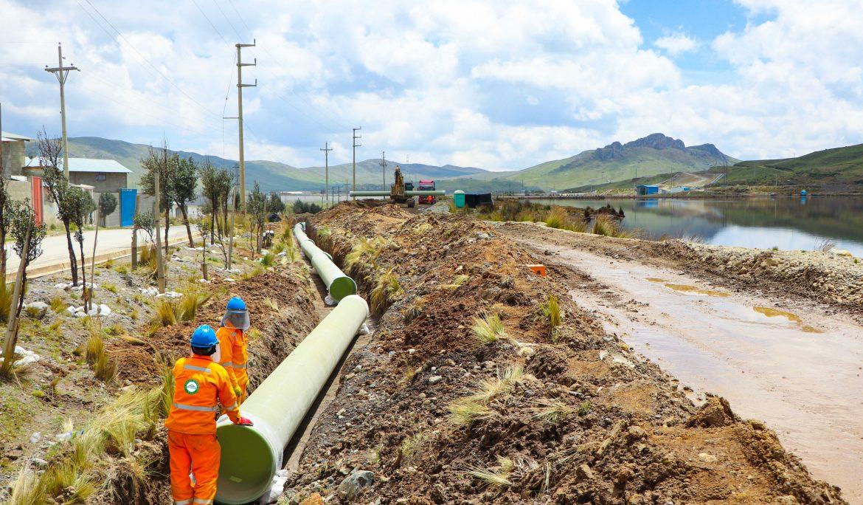 Activos Mineros ejecuta obras para reducir riesgo de desembalse en relavera Quiulacocha